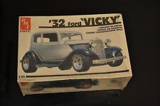 Vintage AMT ERTL 1932 32 Ford Vicky Hot Street Rat Rod Model Kit SEALED