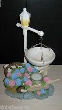 RARE YANKEE CANDLE TART BURNER WARMER HYDRANGEA LATTICE WITH LIGHT POST
