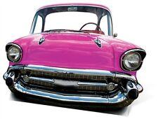 SC-89 Bel Air Auto Pink Stand In ca.151 x 105cm Pappaufsteller Figur Oldtimer