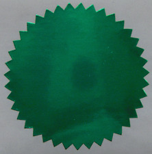 Shiny Green Foil Notary & Certificate Seals, 2 Inch, Serrated Edge, 100 Seals