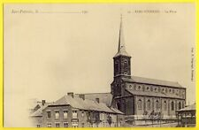 CPA SARS POTERIES en 1900 (Nord) La Place ÉGLISE ESTAMINET