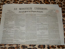 LE MONITEUR UNIVERSEL, journal officiel de l'empire français, n° 331, 27/11/1858