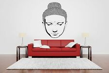 Wall Room Decor Art Vinyl Sticker Mural Decal Buddha Head Face Yoga Poster SA128