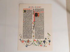 Gutenberg Bible Page  (1955 Commemorative Reproduction)