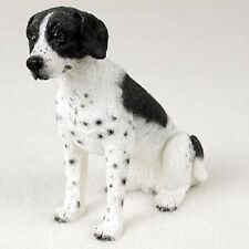 POINTER Dog HAND PAINTED FIGURINE Resin Statue COLLECTIBLE Black White puppy NEW