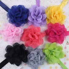 10X Cheveux bandeau Serre-tête Dentelle fleur en mousseline de soie pour filles