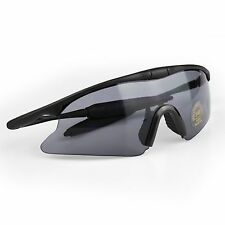 Airsoft Tactical Sunglasses Sport UV400 Protection Shooting Safety Glasses Black