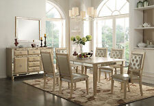 "Acme ""Voeville"" 7 Piece Mirrored Dining Set Furniture 61003"