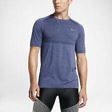 NIKE DRI-FIT KNIT MEN'S RUNNING SHIRT 717758 410 SIZE M 2016 EDITION $80.00