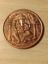 One Anna East India Company Lord Ganesha 1818 Temple Token 20 gms Big COPPERCoin