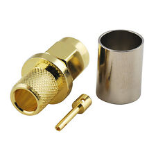 RP-SMA Crimp Male Plug(female pin) Straight RF connector for RG6 coax cable