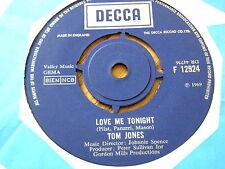 "TOM JONES - LOVE ME TONIGHT  7"" VINYL"