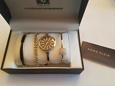 Original Anne Klein Women's AK/1470GBST Gold-Tone Watch and Set  601706297215