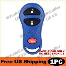 New Blue Replacement Keyless Entry Remote Key Fob Clicker Shell Case Pad