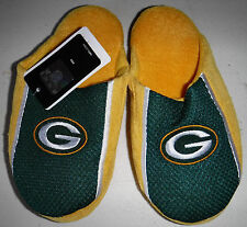 NWT Boys Green Bay Packers Slippers Size Large (Y 5-6)