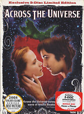 Across the Universe (DVD, 2008, 3-Disc Limited Edition) NEW
