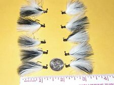 HAND TIED MARABOU MICRO JIGS TROUT 1/100 oz. BLACK & WHITE