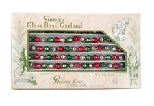 Bethany Lowe Fancy Red and Green Bead 6 Ft Glass Christmas Tree Garland