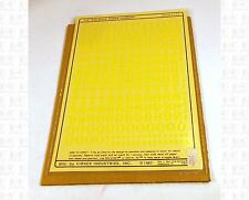 Virnex HO Decals Lt Yellow 3/8 Inches Railroad Roman Number Set 3162