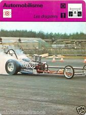 FICHE CARD : 1. Les Dragsters   Drag racing   RACE CAR 70s
