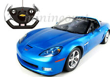 RASTAR R/C RADIO REMOTE CONTROL CAR CHEVROLET CORVETTE C6 GS 1/12 BLUE