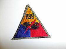 b0605-899  WWII US Army  Armored Tank Battalion Triangle patch 899th PC7