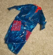 BARBIE DOLL CLOTHES - VINTAGE CLEAR BLUE PLASTIC RAIN COAT