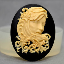 LADY CAMEO  SILICONE MOULD Cupcake polymer clay chocolate resin fimo mold soap