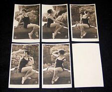 LOT 5 CPA 409 BAIGNEUSE ART DECO MISS PIN-UP NUE NUDE FLAPPERS BATHING BEAUTY