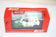 1/43 PORSCHE 908 FLUNDER 1970 WHITE #17 BILSTEIN  BEST MODEL #9136