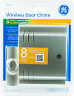 GE Wireless DOOR CHIME with DOORBELL PUSH BUTTON 8-SOUNDS Battery Operated 19303