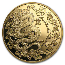 2012 1/4 oz Proof Gold €50 Year of the Dragon Lunar Series - SKU #90238