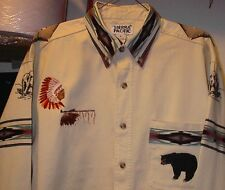 BEAR/EAGLE CREAM TWILL SHIRT (NATIVE AMERICAN)