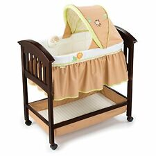 Summer Infant Classic Comfort BASSINET, Wooden BABY BASSINET, Swingin' Safari
