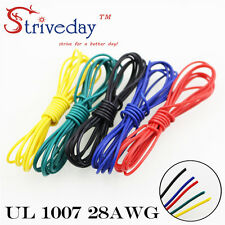 5m 28AWG 5 color Electrical Wire  R/B/G/Y/Black Mix Line Airline Copper PCB Wire