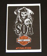 NEW Decal Sons of Anarchy Harley Davidson Final Ride SOA Bumper Sticker NEW