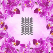 Honeycomb Pattern - 4, Airbrush Nail Stencil self-adhesive