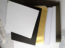 Joblot 120 Cards/Paper:Gold/Silver/Black/White-Bundle Clearout See Description