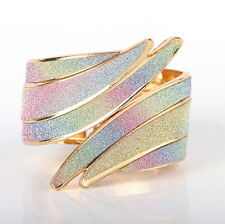 Fashion Women Bracelet Silver Gold Plated Bangle Punk Hand Chain Jewelry Gift