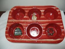 Nantucet Home Holiday Muffin Pan, Ceramic