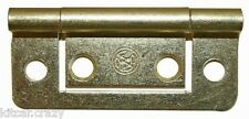 PAIR OF BRASS CUPBOARD DOOR HINGES, SUIT 18MM THICKNESS, CAMPER VAN, MOTORHOME