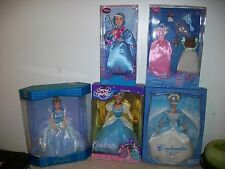 """Lot of 4 DISNEY CINDERELLA FAIRY GODMOTHER 11"""" DOLL & More"""