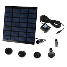 Mini Solar-Powered Pump Fountain Pool Water Pump Garden Plants Watering Kit US