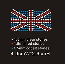 Union Jack Diamante Rhinestone Iron On Transfer (XRSTN036)
