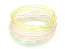 "144 Piece Extra Large 3"" Diameter Glow in the Dark Jelly Bracelets #B1120-144"