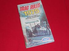 NHRA Drag Race Rule book 1975 hot rod funny car super stock top fuel dragsters