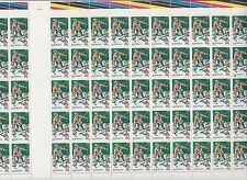 Stamps Australia 1979 Fishing 20c part sheet of 60 inc gutter & autotrons at top