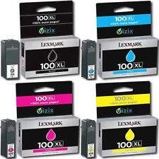 Genuine Lexmark 100XL 4 Color Ink Multi pack High Yield Cartridges Pro205 pro705