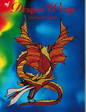 OF DRAGON WINGS & FAERIE THINGS stained glass pattern book JILLIAN SAWYER