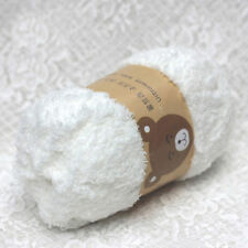 1xSuper Soft Smooth Chunky Double Knitting Wool Yarn Baby Skein Ball White 50g N
